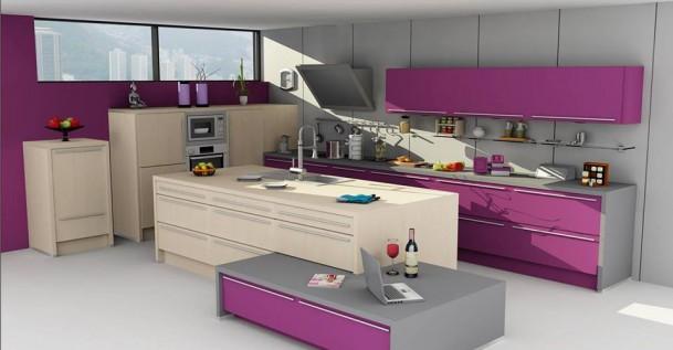 Cocina de diseños 3d